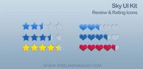 评价图标PSD网页元素