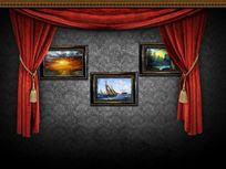 艺术背景墙psd素材