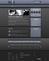 酷炫个人网页模板psd素材