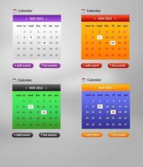手机日历页面psd素材
