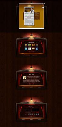 网站模板设计PSD素材