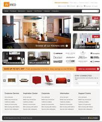 家居装饰网站设计PSD素材