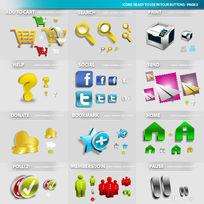 网站图标用具PSD素材