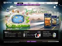 韩国手机网站设计模板PSD