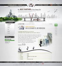 韩国商务网站界面PSD