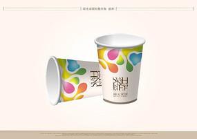 视觉形象纸杯效果图PSD