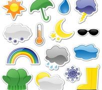 贴纸天气图标