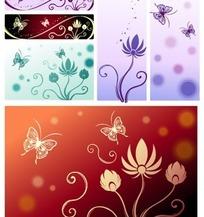 蝴蝶与花纹