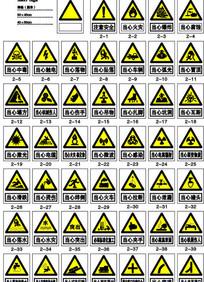 警告警示标志