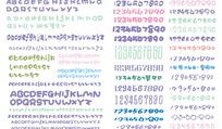 特别好看实用的POP手写数字和英文字母!做设计一定用得上!