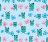 青蛙印花图案