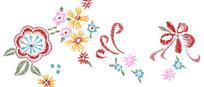 花卉刺绣图案