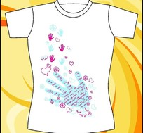 简单图案T恤