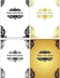 欧式花纹风格名片卡片设计模板免费下载