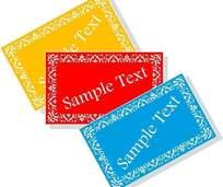 欧式名片卡片设计模板免费下载