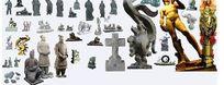 古代人物雕塑素材
