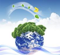 环保地球 植树节素材
