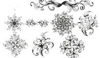 八种素描质感花纹PS笔刷下载