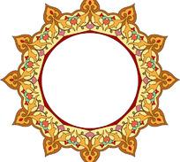 蒙古圆形边框