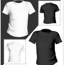 空白T恤模板