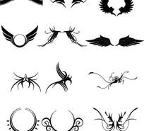 各种翅膀矢量图