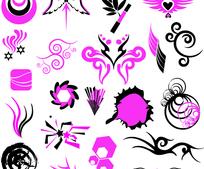 矢量潮流流线型花纹设计元素