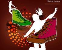 时尚布鞋广告素材