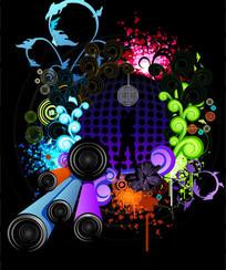 音乐矢量流行元素