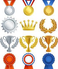 金牌奖杯和奖牌