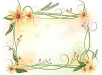 四角围着的花朵