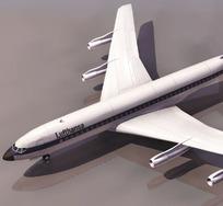 波音707民用客机模型素材