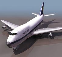 波音747客机三维模型素材