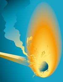 燃烧的火柴背景图