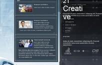 创意空间网站版面-欧美FLASH模板