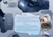 黑客小组网站-欧美FLASH模板