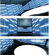 3D虚拟演播室场景模型