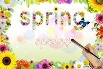spring春天主题背景