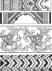 古典花饰边框