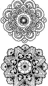 吉祥团花花纹图形
