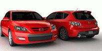 红色马自达3D模型