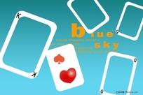 卡通扑克牌相框