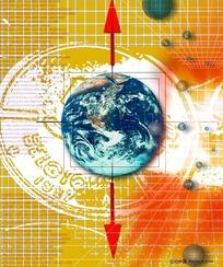 地球时钟背景素材  运转的地球