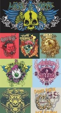 创意时尚潮流T恤图案