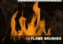 13款火焰和烟雾PS笔刷下载
