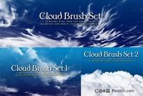 3组白云云朵Photoshop笔刷下载