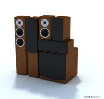 高级音箱套件三维模型