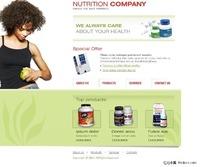 减肥药品公司网页设计模板
