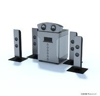 家庭影院音响套件3D模型
