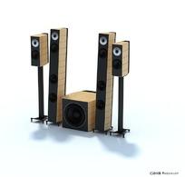 精致音响套件3D模型