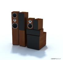 精致音响音箱三维模型